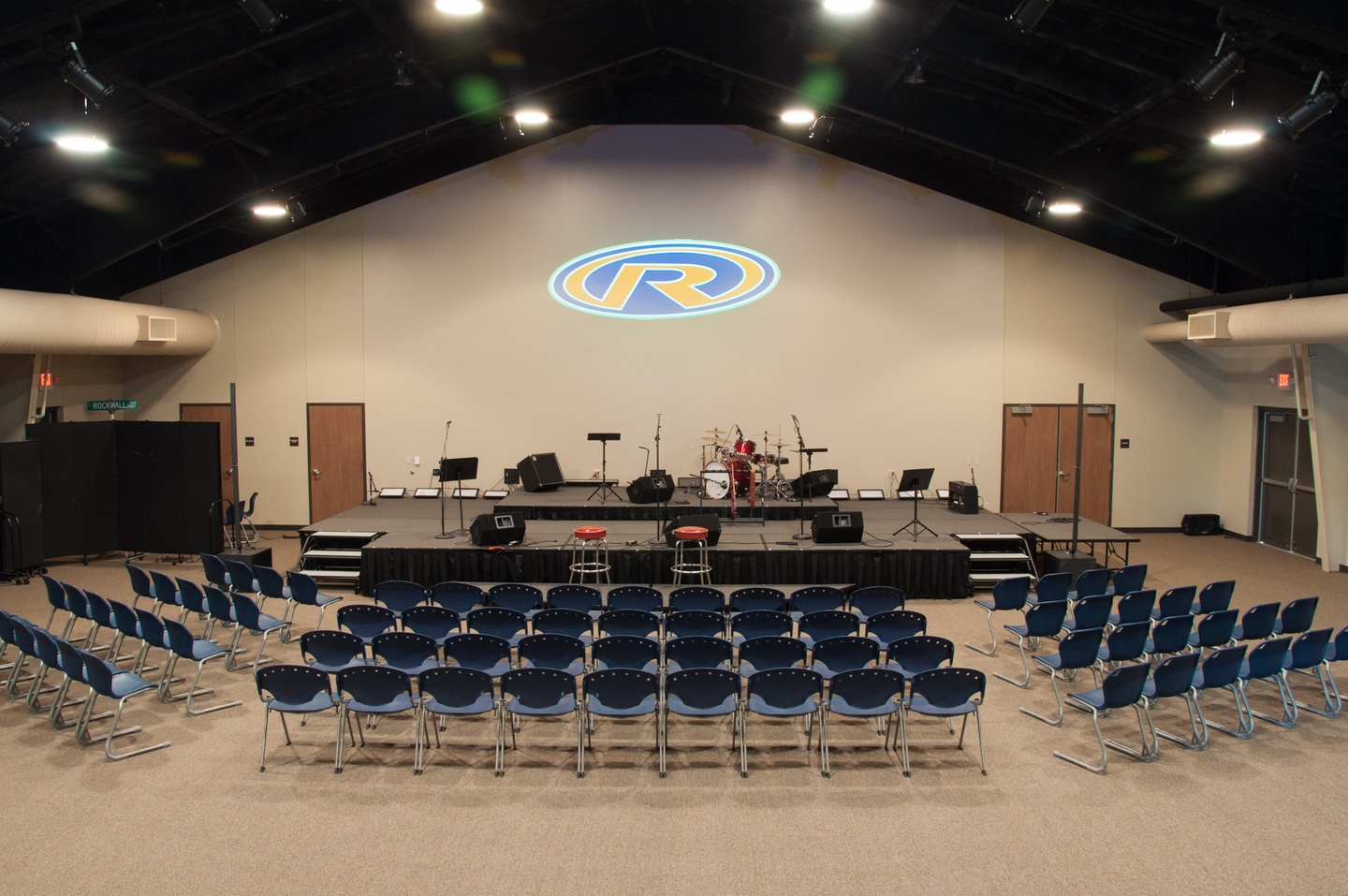 Our Student Building has its own worship center with seating for up to 300 of our students.